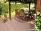Dřevoplastová terasa FOREST, prkna Premium, dekor Palisander