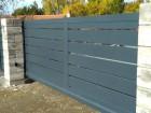 Hliníková posuvná brána NOVUM, vzor N 05, barva šedá mat struktura RAL 7016