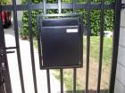 Ocelová vchodová branka, provedení VARIO, vzor AW.10.82, barva černá mat  RAL 9005