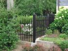 Kovový plot z dutých ocelových profilů, provedení VARIO, vzor AW.10.83 a AW.10.81 , barva černá mat RAL 9005