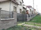 Kovový plot z dutých ocelových profilů, provedení CLASSIC, vzor AW.10.71 , barva šedá grafitová RAL 7016