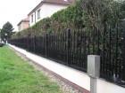 Kovový plot VARIO, vzor AW.10.84, barva hnědá RAL 8019