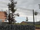 Panelový drátěný plot VEGA B, sloupek Omega 60 x 40 mm, barva šedá grafitová RAL 7016
