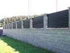 Hliníkový plot NOVUM, vzor N 01, barva černá mat struktura RAL 9005
