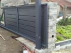 Hliníkový plot NOVUM, vzor N 05, barva šedá mat struktura RAL 7016