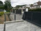 Hliníkový plot NOVUM, vzor N 01, barva šedá mat struktura RAL 7016