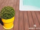 Dřevoplastová terasa FOREST PLUS, prkna Premium, dekor Palisander