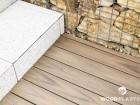 Dřevoplastová terasa FOREST PLUS, prkna Premium, dekor Teak