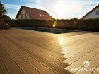 Dřevoplastová terasa STAR, prkna Premium, dekor Palisander a Teak