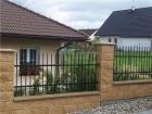 Kovaný plot STYLE, vzor AW.10.07, barva černá mat RAL 9005