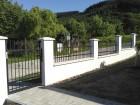 Kovaný plot STYLE, vzor AW.10.22, barva černá mat struktura RAL 9005