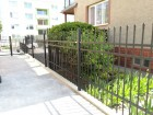 Kovaný plot LUX, vzor AW.10.60, barva černá mat struktura RAL 9005