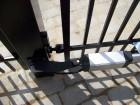 Kovová křídlová brána VARIO, vzor AW.10.82, barva černá mat RAL 9005