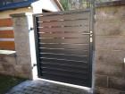 Lamelový plot z ocelových pásů HOME INCLUSIVE, vzor AW.10.230, barva šedá grafitová RAL 7016