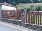 Dřevoplastový plot FOREST, dekor Palisander, rámy a nosníky ocelové - žárový zinek