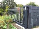 Moderní plot z ocelových profilů MODERN, vzor AW.10.105, barva šedá grafitová RAL 7016