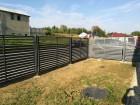 Moderní plot z ocelových profilů MODERN, vzor AW.10.106, barva antracit