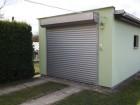 Roletová vrata, lamely 77 mm, barva stříbrná RAL 9006