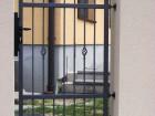 Kovaná vchodová branka STYLE, vzor AW.10.22, barva antracit