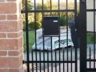 Kovová vchodová branka VARIO, vzor AW.10.84, barva černá mat  RAL 9005