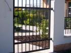 Kovaná vchodová branka STYLE, vzor AW.10.22, barva černá mat struktura RAL 9005