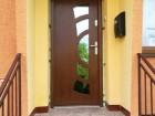Dřevěné vchodové dveře Erkado, vzor P 9, provedení dub, odstín zlatý dub