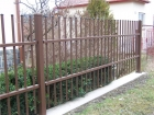 Kovový plot CLASSIC, vzor AW.10.06 , barva hnědá RAL 8014