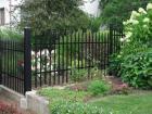 Kovový plot VARIO, vzor AW.10.83 a AW.10.81, barva černá mat RAL 9005