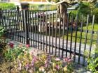 Kovový plot CLASSIC, vzor AW.10.05, barva černá mat struktura RAL 9005