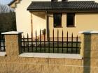 Kovový plot VARIO, vzor AW.10.84 a AW.10.81, barva černá mat RAL 9005