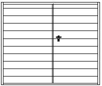 Design vodorovná široká lamela