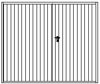 Design svislá úzká lamela