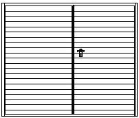 Design vodorovná úzká lamela