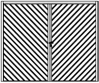 Design šikmá lamela tvar V