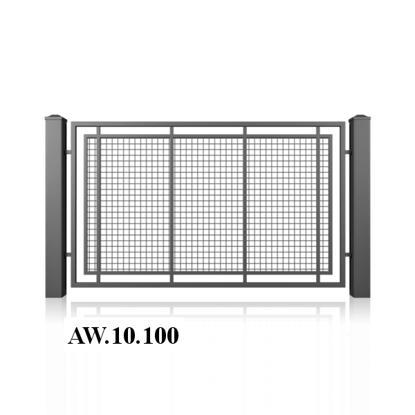 Výplň: Drátěná mříž 50 x 50 mm.